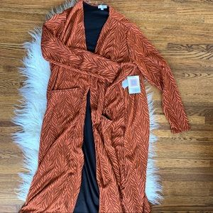 LuLaRoe Sarah Double Orange Sweater Size L NWT